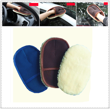 Auto parts wool soft wash gloves motorcycle care waxing rag cleaning for BMW all series F-series E46 E90 F09 1 2 3 4 5 6 7 X E image