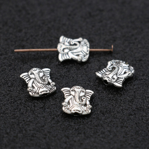 Jakongo antigo banhado a prata elefante solto espaçador contas para fazer jóias pulseira diy descobertas 10mm 20 pçs/lote