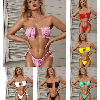Sexy pink swimsuit woman bikinis 2020 Micro swimsuit woman Push up two pieces suit summer SA-7 комбинезон pink woman pink woman pi026ewgotw3