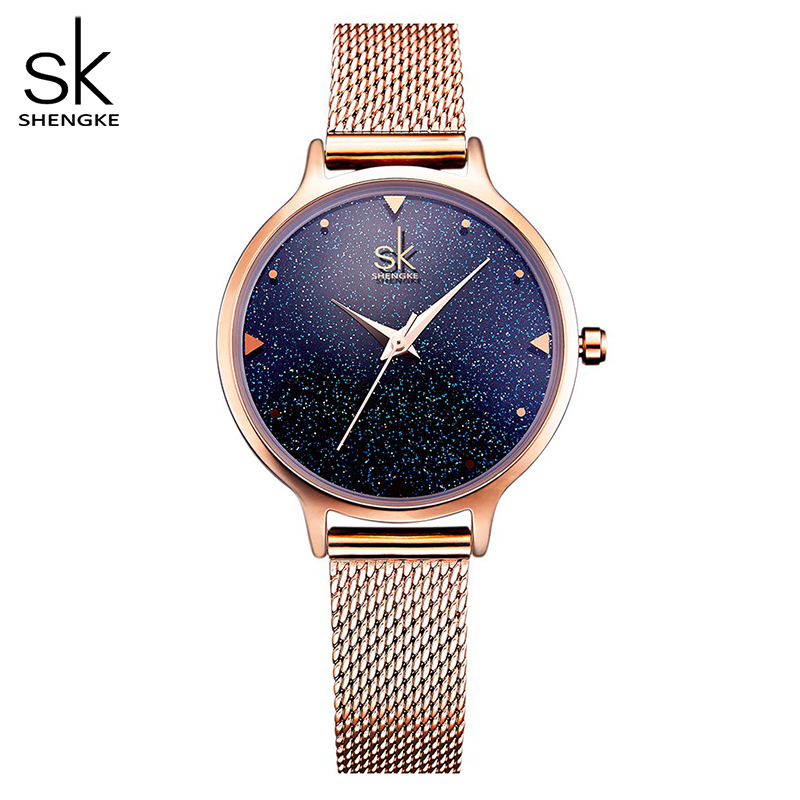 SHENGKE Fashion Elegant Quarts Women Watch Rose Gold Women Wrist Watch New Ladies Brand Luxury Relogio Feminino Reloj Mujer