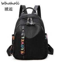 Whoholl Brand 2019 Preppy Style Letter Panelled Women Backpack Girl Schoolbag Ladies Small Travel Bag Student School Backpacks