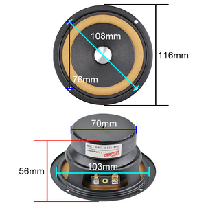 Image 2 - Hifi 4 Inch Full Range Speaker 8ohm 20W Voor Bluetooth Luidspreker Boekenplank Luidspreker Diy Volledige Frequentie Luidspreker Lederen Rand 2 Pcs