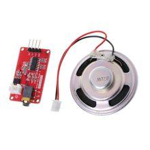 Uart módulo de tocador de música mp3, placa monaural com alto falante e placa amplificadora para arduino