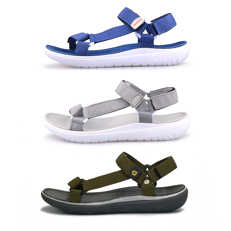 Image 3 - GRITION Women Outdoor Quick Drying Flat Sandals Ladies Soft Light Weight Beach Sandals Fashion Summer Casual Walking Shoes BlueBeach & Outdoor Sandals   -