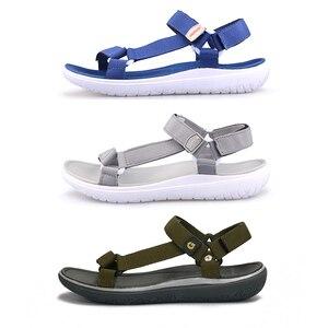 Image 4 - GRITION sandales de plage pour femmes, bleues, à séchage rapide, chaussures dextérieur, légères, à la mode, été, chaussures de marche décontractées