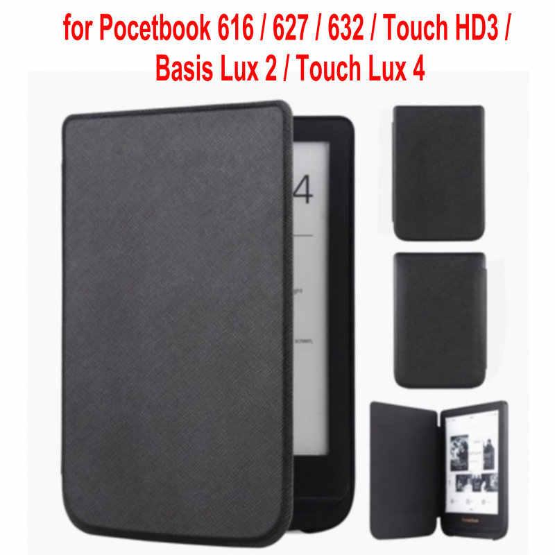 Чехол для Pocketbook 616/627/632 ультратонкий Магнитный смарт чехол из искусственной кожи