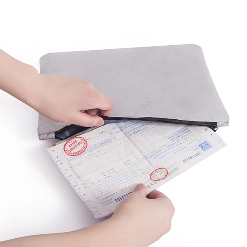 Document Ticket Storage Bag Waterproof Large Capacity for Home Office Travel PXPA 4