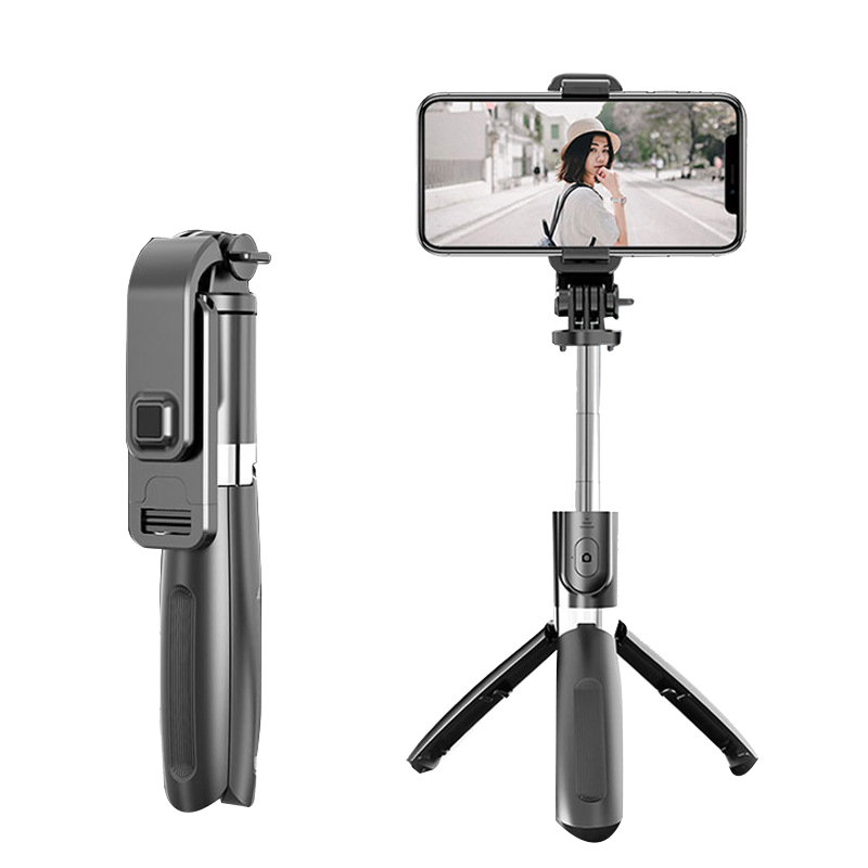L02 Selfie Stick Monopod Bluetooth Tripod with Wireless Remote Shutter for Smartphone Gopro Camera image