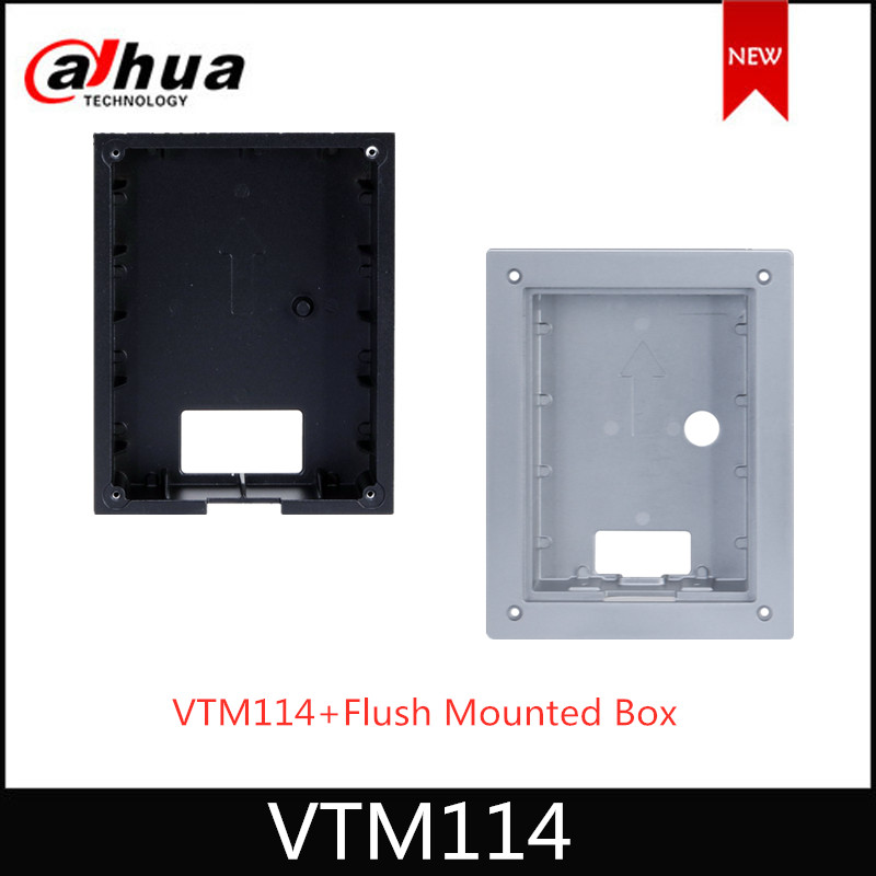 Dahua VTM114 + Flush Mounted Box Aluminum Alloy Flush Box Used To VTO2202F(-P) Intercom Accessory