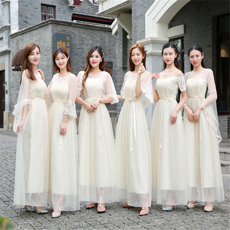 Long Dress For Wedding Party For Woman Burgundy Bridesmaid Dresses Sister Tulle V-neck Sexy Prom Dress Champagne Vestidos Mujer