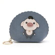 Woman Wallet Coin-Purses Credit-Card-Holder Zipper-Change-Pouch Animal-Design Girls Mini