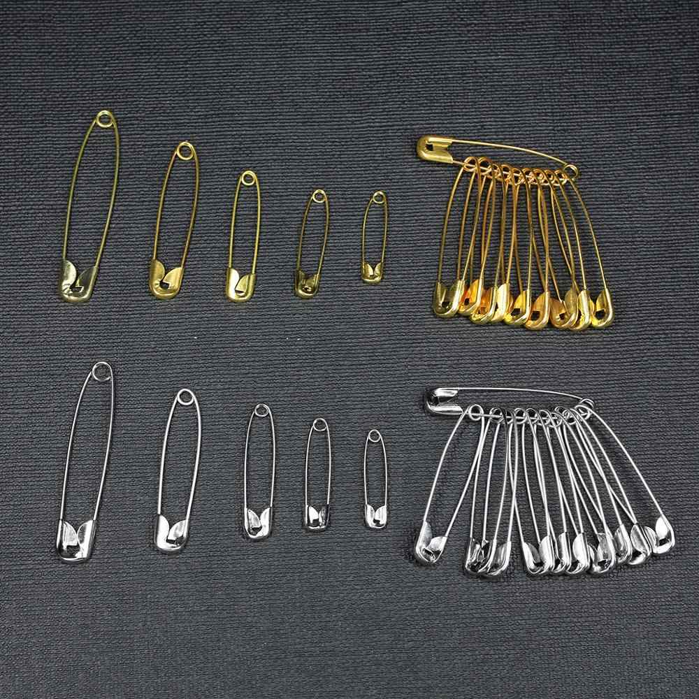 Safety Pins Silver Iron Small Medium Large Size Hand Sewing Needles Craft 100pcs