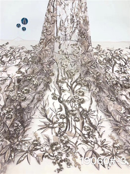 Excellent flower net lace fabric elegant wedding tulle lace material PAN67(5yards/lo
