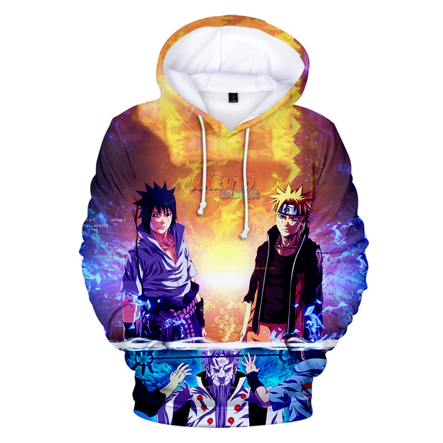 3D NARUTO THEMED HOODIE (8 VARIAN)