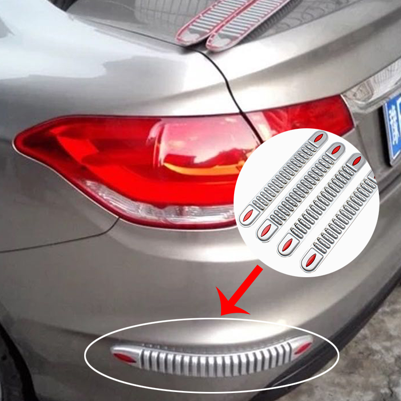 2X Car Styling <font><b>Bumper</b></font> Protectors Anti-Crash <font><b>Trim</b></font> Strip Sticker For Mercedes W203 W211 W204 W210 Benz <font><b>BMW</b></font> F10 E34 <font><b>E30</b></font> F20 X5 E70 image