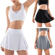 Sports Tennis Yoga Short Skirts Fitness Short Skirt Badminton Breathable Quick Drying Women Sport Anti Exposure Tennis Skirt