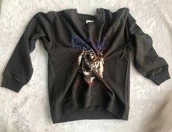 Женская толстовка с круглым вырезом пуловер толстовка с принтом в виде головы тигра толстовка с длинными рукавами