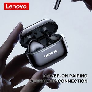 Image 2 - New Lenovo LP40 Wireless Bluetooth Earphones TWS Earbuds IP54 Waterproof headset HiFi Wireless Headset With Mic Sport ear buds