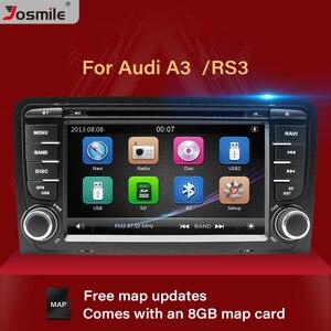 2 Din автомобильный DVD плеер Авто Радио для Audi A3 8P S3 RS3 Sportback 2003 2004 2005 2006 2007 2008 2009 2010 2011 бесплатно 8GB карта