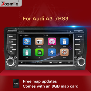 2 Din Car DVD Player Auto Radio For Audi A3 8P S3 RS3 Sportback 2003 2004 2005 2006 2007 2008 2009 2010 2011 Free 8GB Map card(China)