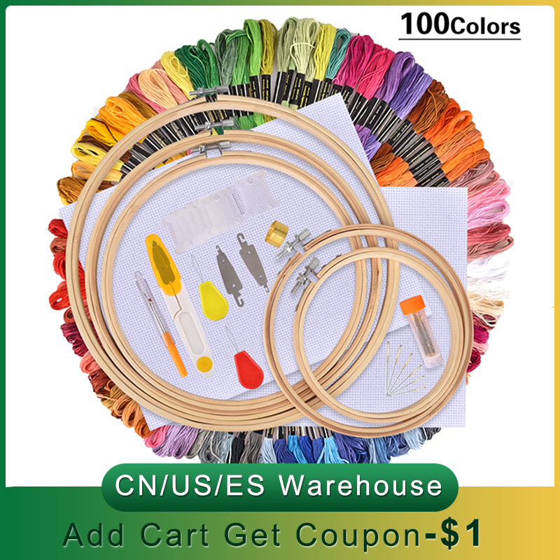 Embroidery Pen Tweezer Needle-Set Punch-Stitching Sewing-Accessories Knitting-Kit Thread