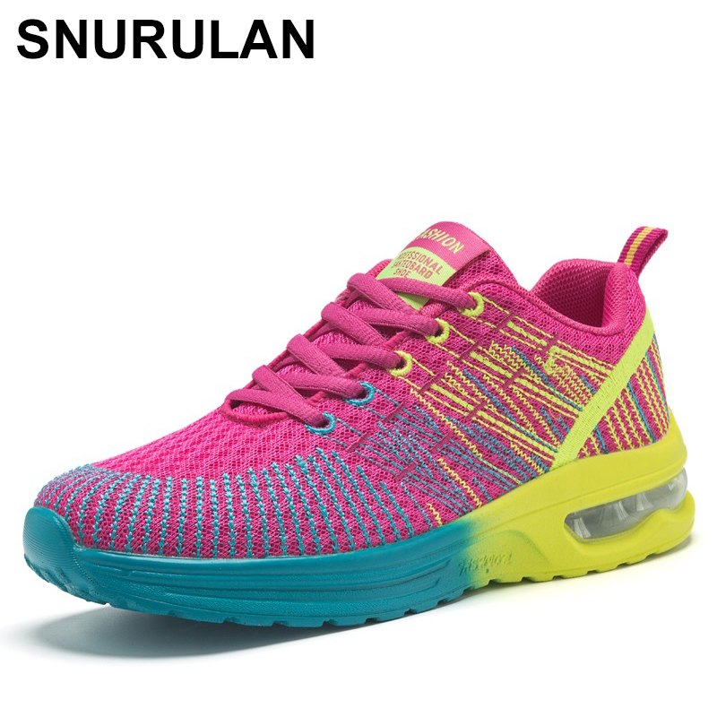 SNURULAN fashionable sneakers; women's casual <font><b>shoes</b></font> made of mesh <font><b>material</b></font>; large sizes 42;new street women sports walking <font><b>shoes</b></font> image
