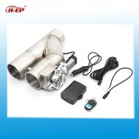 2.5 3 Double Electric Exhaust Cutout Kit Y Pipe Stainless Steel 63mm 76mm Exhaust Control Valve with Wireless Remote Control