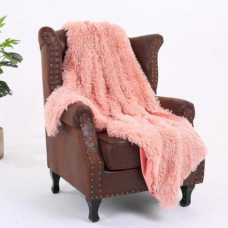 Super Weiche Fuzzy Pelz Faux Elegante Gemütliche Mit Flauschigen Decke Bett Sofa Bettdecke Lange Shaggy Weiche Warme Bettwäsche Blatt große