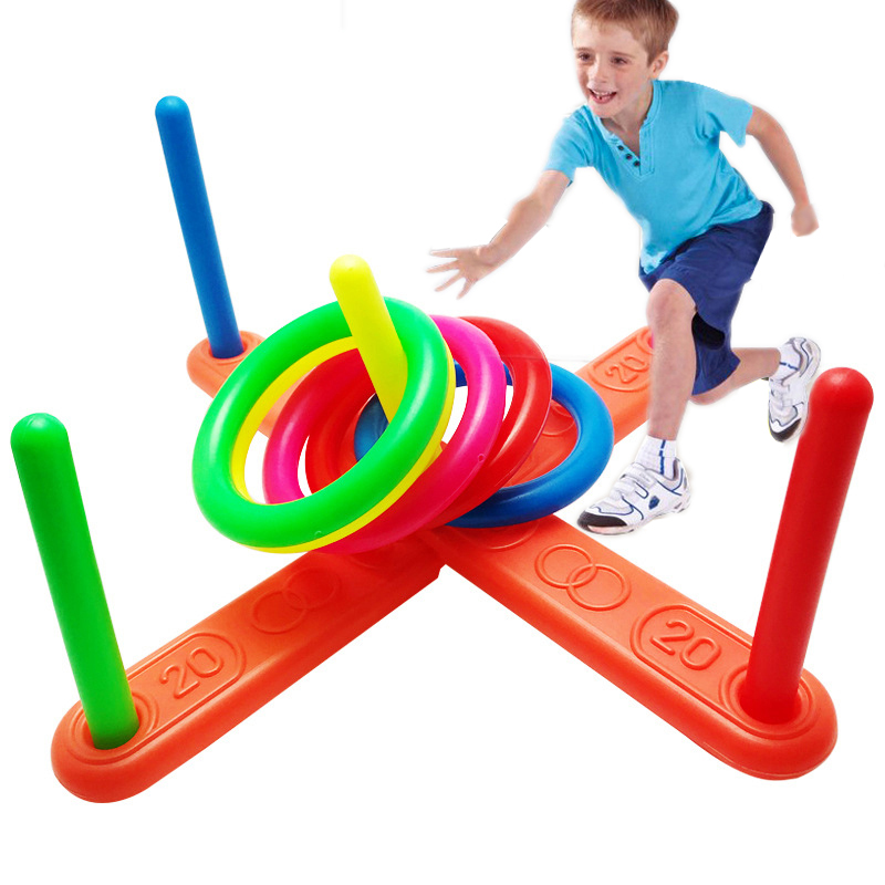 Children's Toy  5 Ring Throwing Ring Creative Educational Fitness Toy Parent-child Throwing Exercise Equipment