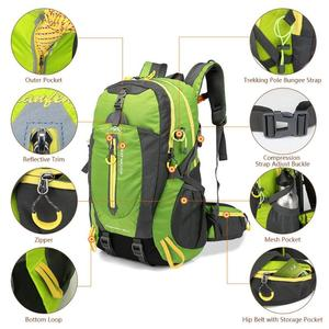 Image 4 - 방수 등산 배낭 배낭 40L 야외 스포츠 가방 여행 배낭 캠핑 하이킹 배낭 여성 트레킹 가방 남성용