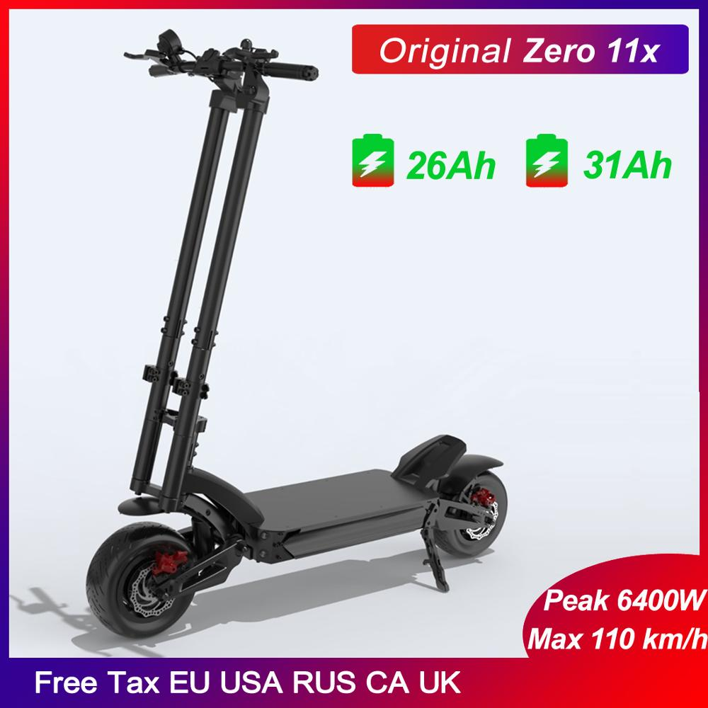 Newest ZERO 11X Inch Electric <font><b>Scooter</b></font> 72V <font><b>3200W</b></font> Dual Motor X11-DDM E-<font><b>scooter</b></font> Off Road <font><b>scooter</b></font> Top 110km/h Double charger image