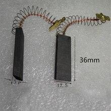 2 шт мотор угольные щетки для Bosch/NEFF/Siemens Стиральная машина Замена 36x12,5x5 мм Мотор Углеродные аксессуары для кистей