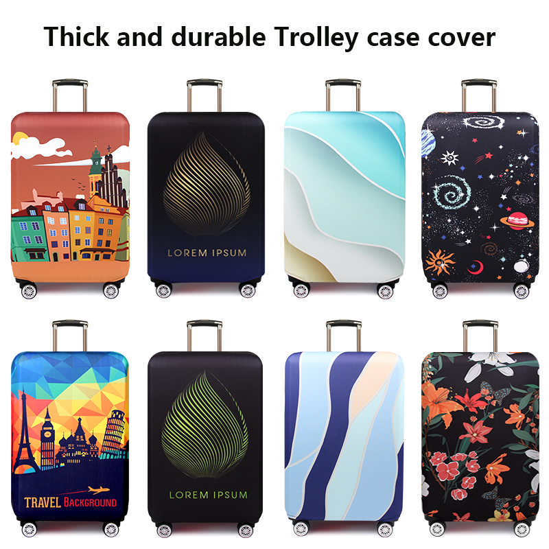 Cartoon Wear-resistant Box Coat Luggage Case Protective Cover Trolley Suitcase Leather Case Jacket Dust Cover 20/24/26/28/29inch