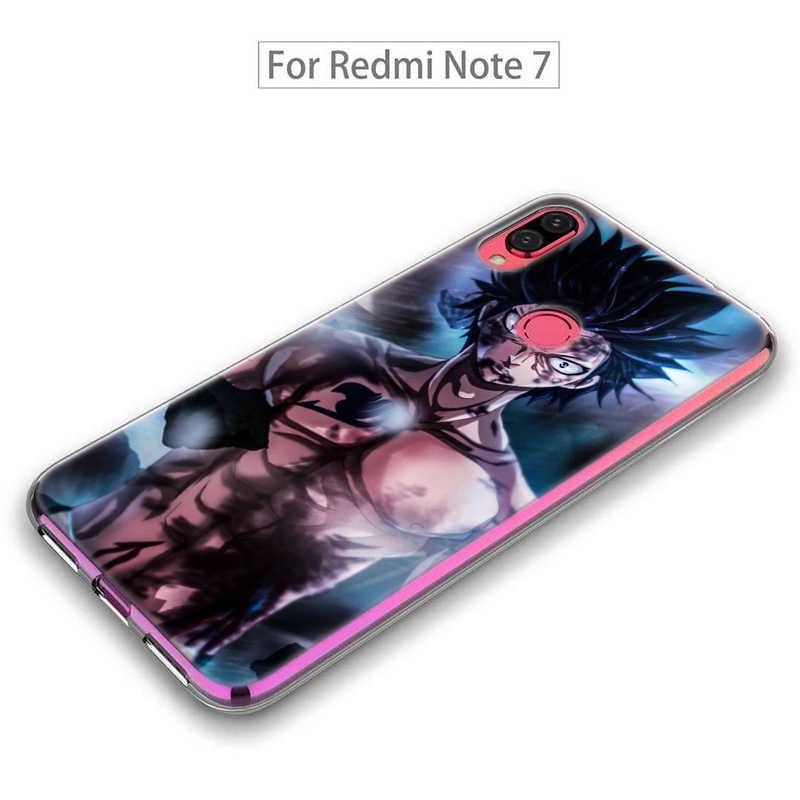 Wróżka ogon szary miękki futerał do Xiaomi Redmi uwaga 8T 9S 6 7 8 Pro 9 Pro K20 K30 Pro 6A 7A 8A silikonowa osłona