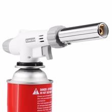 цена на Gas Torch Airbrush Flame Gun Blowtorch Cooking Soldering Butane AutoIgnition gas-Burner Lighter Heating Welding Jet flame gun
