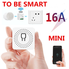 16A מיני חכם Wifi DIY מתג תומך 2 דרך שליטה, בית חכם אוניברסלי מודול, עובד עם Alexa Google בית חכם חיים App