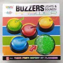 送料無料プラスチック教育玩具家族ゲーム競争クイズブザーライトと音ボタンブザーおもちゃ