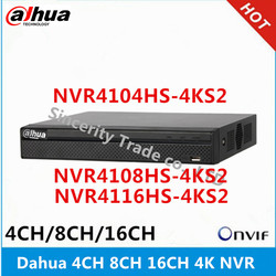 Dahua 4k NVR NVR4104HS-4KS2 4CH & NVR4108HS-4KS2 8CH & NVR4116HS-4KS2 16ch without POE Network Video Recorder
