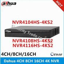 Dahua 4k nvr NVR4104HS-4KS2 4ch & NVR4108HS-4KS2 8ch & NVR4116HS-4KS2 16ch, gravador de vídeo sem rede