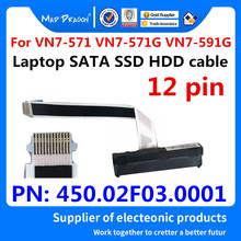 Cable HDD original SSD, cable SATA HDD para disco duro para Acer Aspire Nitro VN7-571 VN7-571G VN7-591 450.02F03.0001