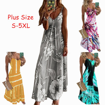 Sleeveless Vintage Floral Print Boho Dress Robe Women Sexy Beach Maxi Summer Casual Dress Elegant Party Long Dress 2020 Vestidos cuerly ruffle floral print button short dress women summer elegant casual loose dress female sexy daily beach dress vestidos l5
