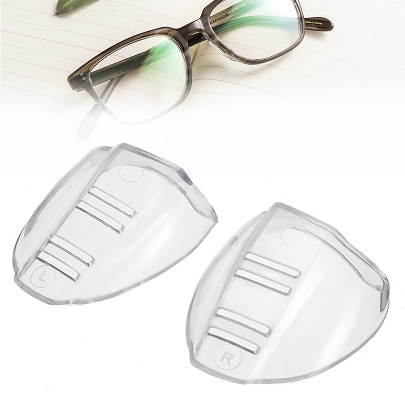 1 Pair Clear Safety Optical Glasses Eyewear Side Shields Protective Covers For Protector Goggles Wings Side Shields Flap Side