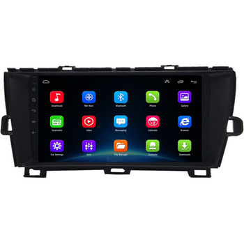 9 Android 10 Car GPS Navigation radio player stereo multimedia for Toyota prius left 2009-2013 ,bluetooth,steering wheel image