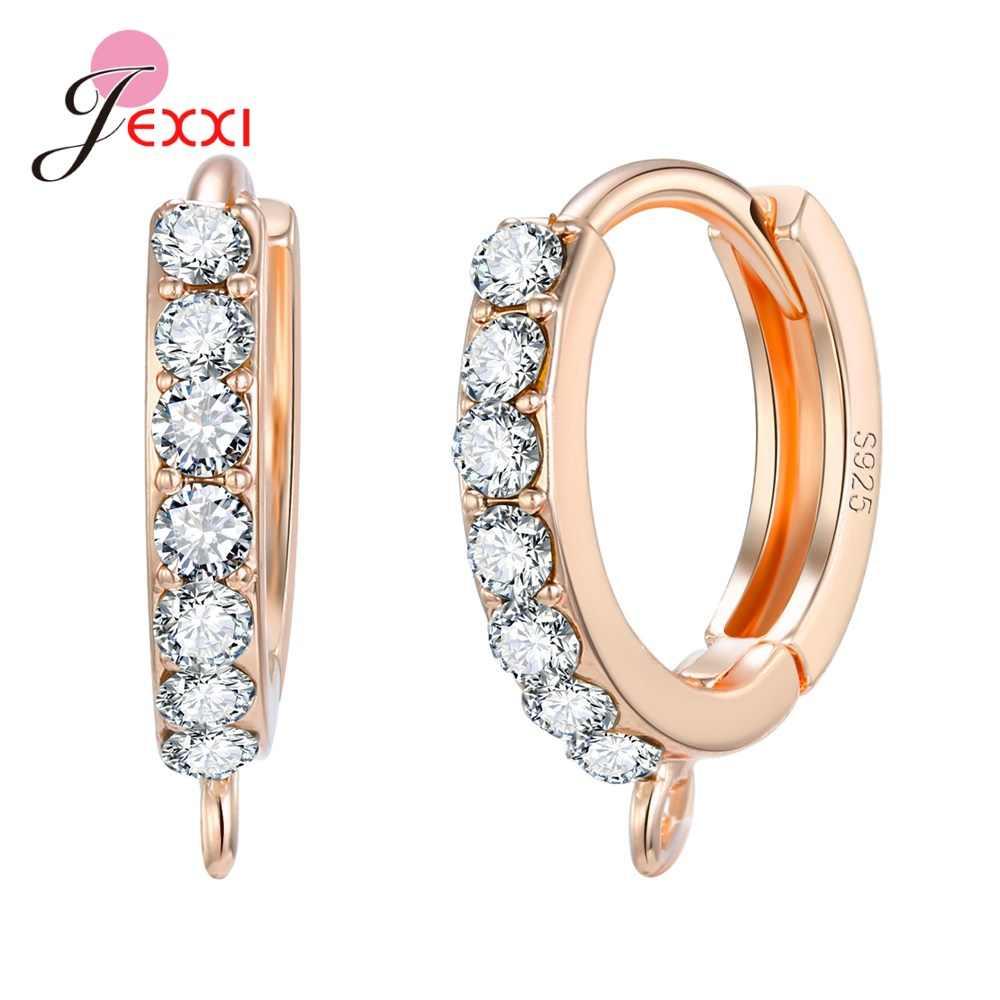 Kreative 925 Sterling Silber Earwire Hohe Qualität Hoop Ohrring Erkenntnisse Für DIY Frauen Schmuck Machen Ohrringe Haken Verschlüsse