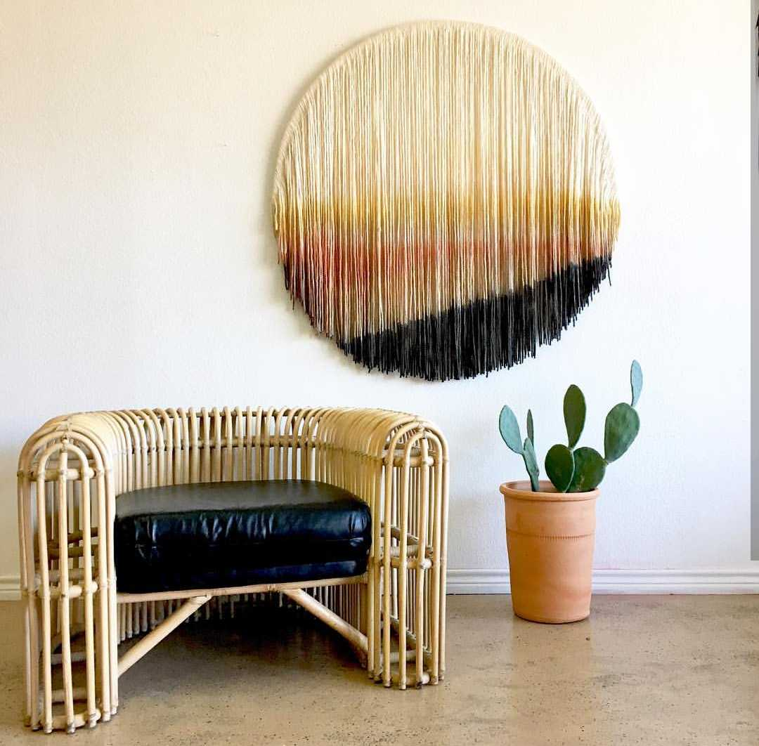 Nordic Bohemian hand-woven dyed tapestry home decor sofa background decoration soft