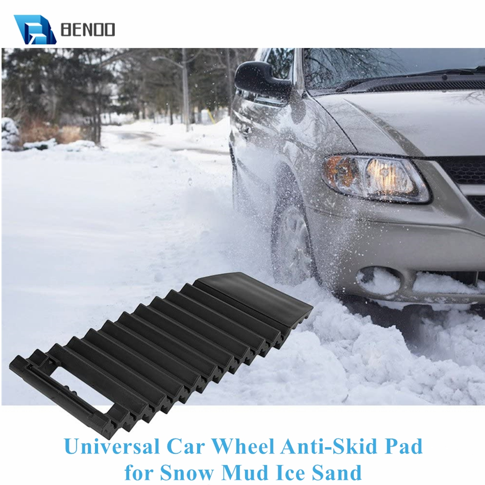 Universal Portable Non-Slip & Sturdy Car Wheel Anti-Skid Pad Non-Slip Emergency Tire Traction Mat Plate for Snow Mud Ice Sand