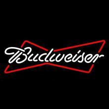 Budweiser sinal de luz de néon de vidro