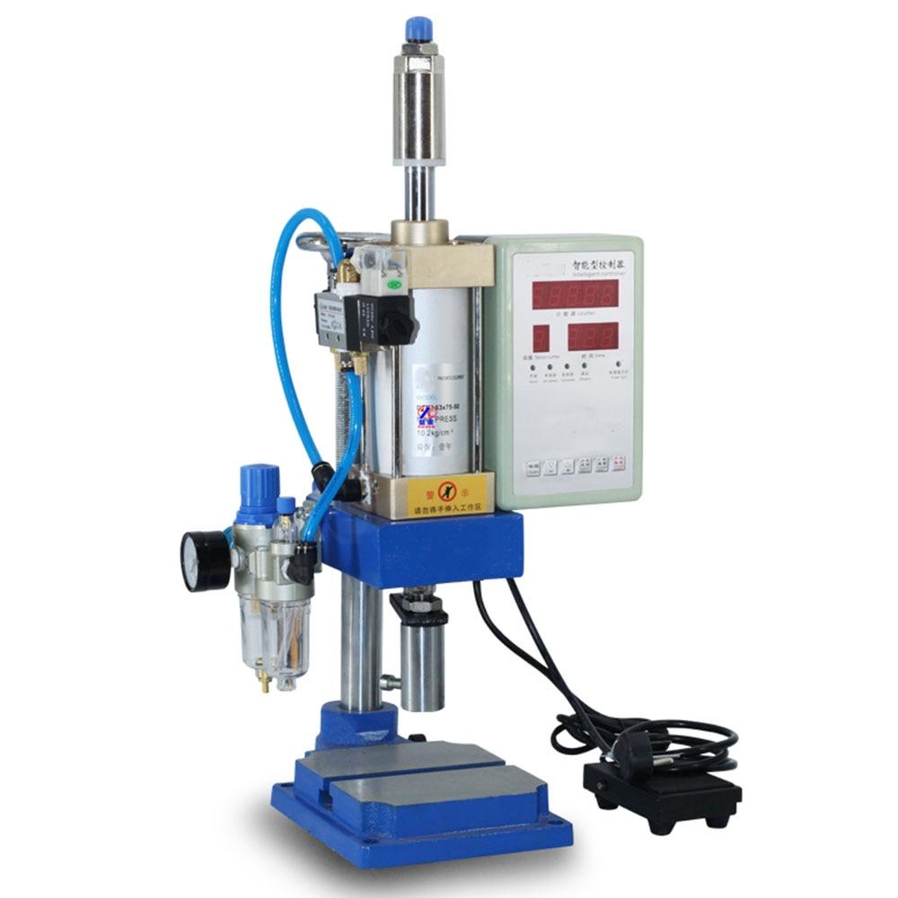 110В/220В пневматическая пресс-машина маленький настольный перфоратор Пневматический Перфоратор Регулируемая сила 200кг