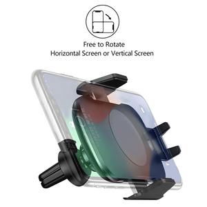 Image 3 - 10W Qi Car Wireless Charger For iPhone Xs X Samsung S10 S9 Xiaomi Mi Automatic Clamping Fast Wireless Charging Car Phone Holder