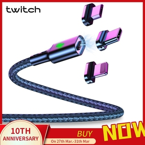 Twitch T03 Magnetic Cable Micro usb Type C Magnetic Usb Charging Cable Microusb Type-C Magnet Charger Wire usb c For iphone 11